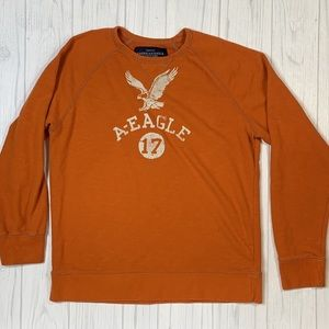 American Eagle Athletic Fit Orange Pullover Large
